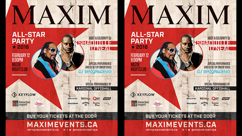 Maxim All-Star Party with Host & Celebrity DJ Shaq